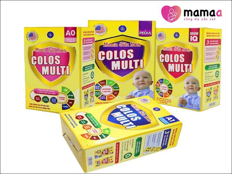 các dòng sản phẩm Mama sữa non Colos Multi