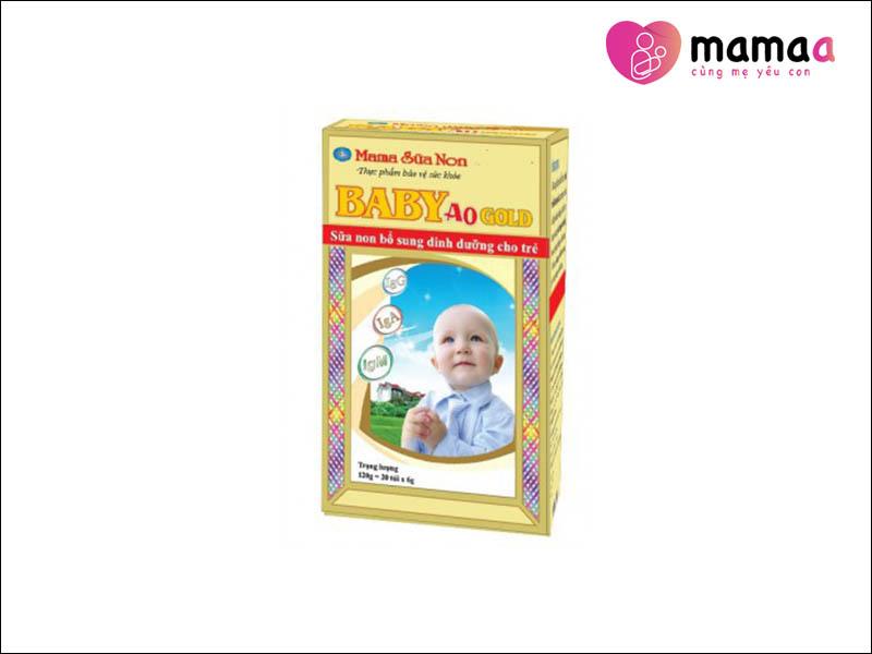 Mama Sữa Non Baby A0 9g Gold cho trẻ trên 1 tuổi