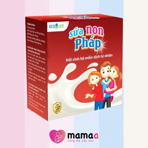 Sữa non pháp Ecolife có chứa hồng sâm