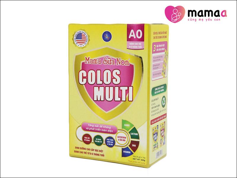 Mama Sữa Non Colos Multi A0 cho trẻ sơ sinh