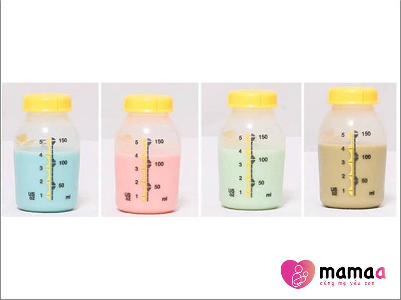 Các màu sắc khác nhau của sữa non