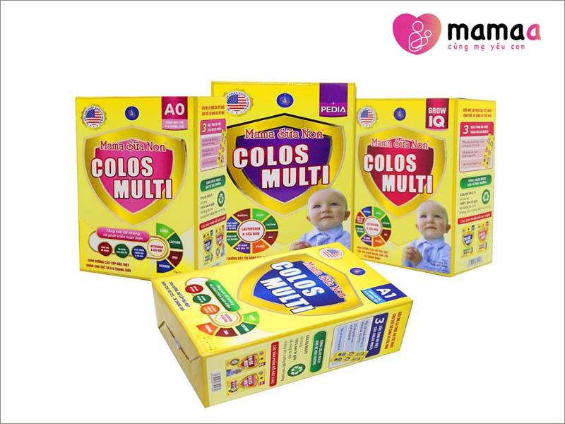 các sản phẩm Mama sữa non Colos Multi