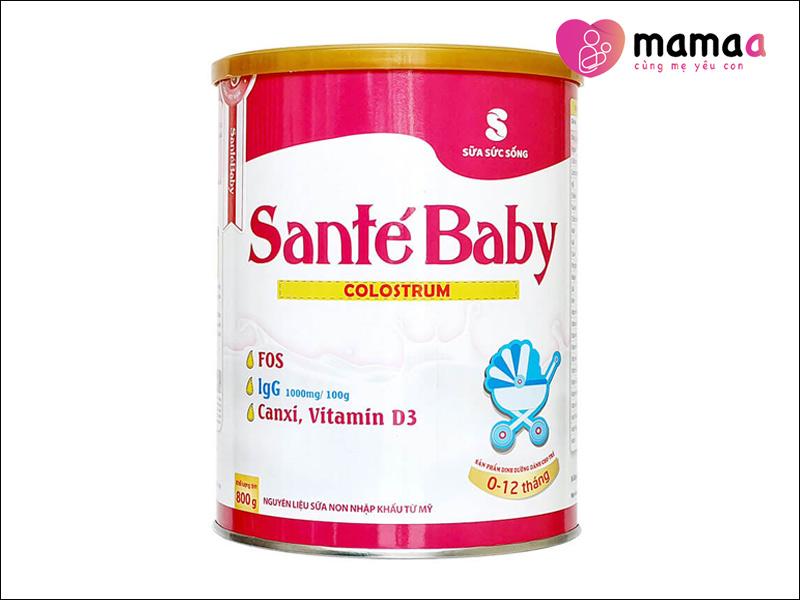 Sữa non Pháp tăng cường sức đề kháng Santé Baby