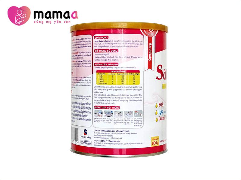 Hình ảnh sữa non Pháp Santé Baby